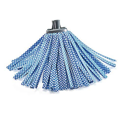Takestop® ricambio mop sintetico filato strisce blu mocio lava pavimenti universale in tnt lavapavimenti per manico scopa casa pulizia ceramica marmo e cotto assorbente