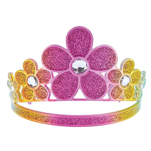 (Bristol Novelty ba494Glitter Rainbow Blume Tiara, Damen, Mehrfarbig, One Size)