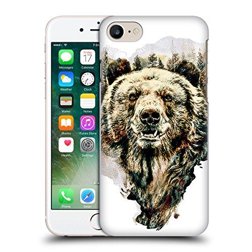 Offizielle Riza Peker Wolf Tiere Ruckseite Hülle für Apple iPhone 7 / iPhone 8 Bär
