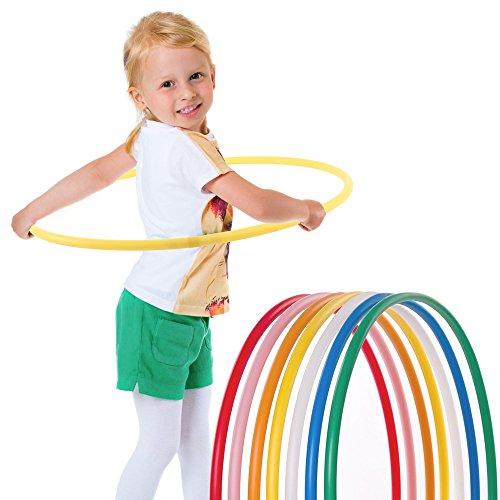 Hoopomania Kinder Hula Hoop Reifen, Gelb, Ø70cm