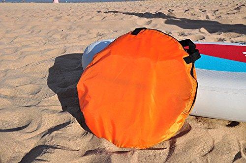 Huya Force 42'' Abwind Kajak Segel Paddel, Kanu Segel INSTANT Kit - Einfaches Setup & Schnell einsetzbar & Tragbar & Kompakt (Orange) -