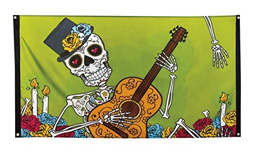 Boland 97022 Fahne Day of The Dead, (Traditionelle Kostüm Für Tag Der Toten)