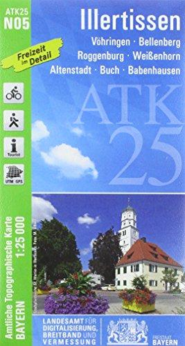 ATK25-N05 Illertissen (Amtliche Topographische Karte 1:25000): Vöhringen, Bellenberg, Roggenburg, Weißenhorn, Altenstadt, Buch, Babenhausen (ATK25 Amtliche Topographische Karte 1:25000 Bayern)