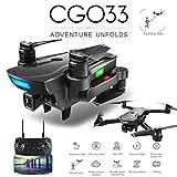 Amyove Quadcopters CG033 Quadricoptère FPV Brushless avec 1080P HD WiFi caméra cardan Drone Pliable Drone GPS Dron Enfants Cadeau