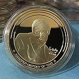 Stephen William Hawking,Pièce Commémorative,Royaume-Uni,Physique,Brève Histoire Du Temps,Pièce De Défi,Trou Noir,Plaqué Or,2 Pièces Monnaie De Décision/d'or / 2Pcs...