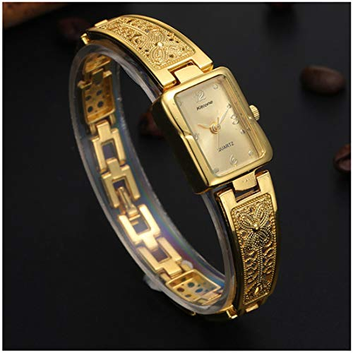 Harbour Retro Artistic Designer Golden Belt Gold Dial Women Watches & Girls Watches - GB_12
