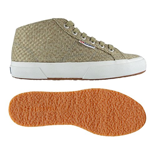 Superga 2754 Weavingw damen, canvas, sneaker high White Natural