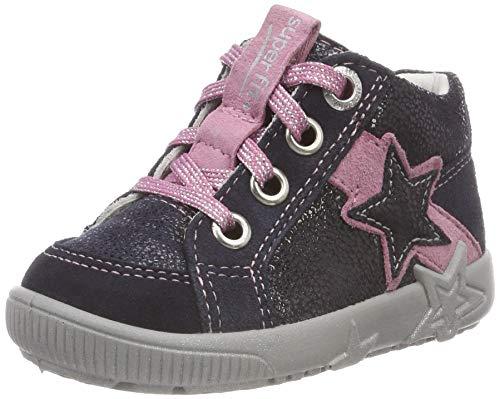 Superfit Baby Mädchen Starlight Sneaker, (Blau/Rosa 80), 24 EU