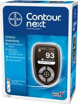 BAYER CONTOUR® NEXT Blutzuckermessgerät Starterkit, Ausführung:Ausführung 1