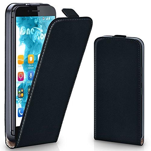 moex Huawei Honor 5C | Hülle Schwarz 360° Klapp-Hülle Etui Thin Handytasche Dünn Handyhülle für Honor 5C / Honor 7 Lite/Huawei GT3 Case Flip Cover Schutzhülle Kunst-Leder Tasche