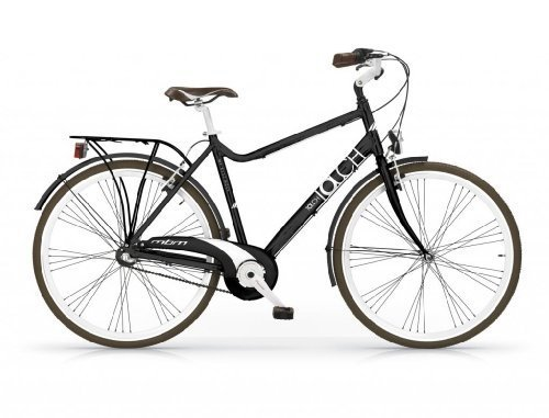 MBM TOUCH MAN BICYCLE 28 TREKKING CITY BIKE ALLOY H58 BICICLETA CIUDAD HOMBRE NEGRO