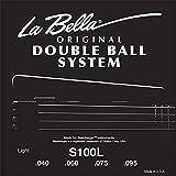 Labella S100L Jeu de Cordes à double boule pour Guitare Basse 40/95 Light