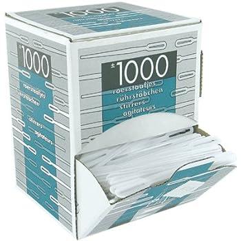 Agitateur Plastique Blanc - Boite De 1000