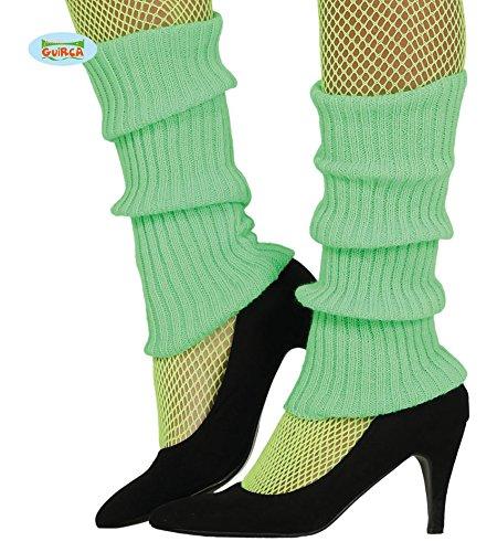 (Guirca Sexy Neon grün Bein Arm Stulpen für Damen Zum 80er Jahre Damenkostüm Fasching)