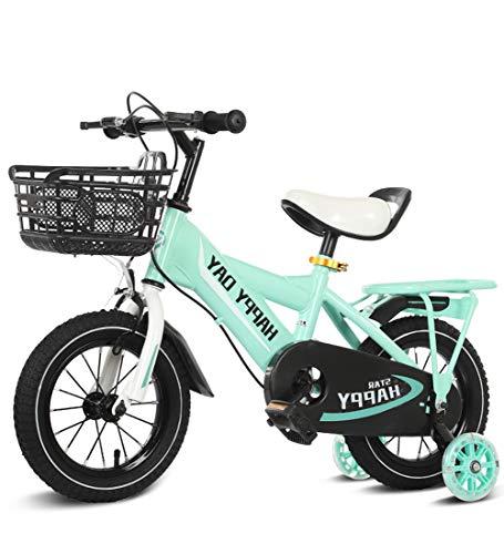 """SXMXO Kinderfahrräder 12\"""" 14\"""" 16\"""" 18\"""" Zoll Kinderfahrrad Jungen Mädchen Ab 3 Jahre Mit V-Brake Und Rücktritt - BMX Modell 2019,Green,12inches"""
