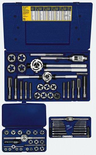 Irwin Hanson Maschinenschraube/Fraktionierte/Metrisches Gewindeschneider und Hex Bit und Bohrer Deluxe-Set, 117Stück 26377, 97312