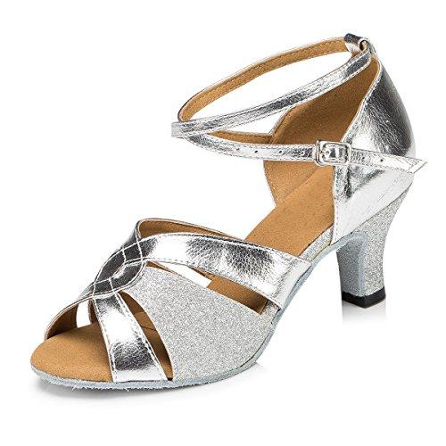 Minitoo Damen Tanzschuhe Silber