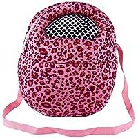 Tre Dimensioni Piccoli animali Carrier Bag Hedgehog criceto mouse Borse in uscita Leopard zaino da viaggio portatile con cinghia, Tre colori ( Colore : Pink-L(21CM×25CM ) )