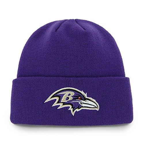 47 Brand Baltimore Ravens Violett Cuff Beanie Mütze-NFL Cuffed Winter Knit Toque Gap New Era Toque