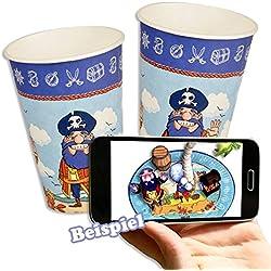 Vasos piratas con magic experience, 10 ud.