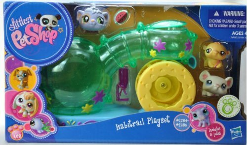 Littlest Pet Shop - EXCLUSIVE - 24982 - Habitrail Playset - SUPER Spielplatz-Haus - incl. 3 Tiere - Meerschweinchen #1754 & Hamster #1755 & Maus #1756 (Shop-hamster Pet Little)