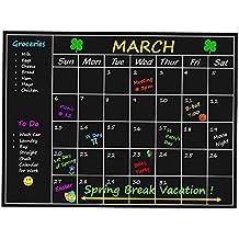 Home Solutions - pizarra estilo planificador mensual, calendario de pared, adhesivo (lenguaje español no garantizado)