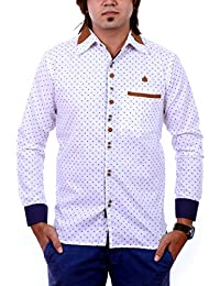 PP Shirts White Coloured Partywear Shirt