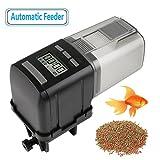 RCruning-EU Erogatore di cibo automatico per pesci, dispenser di cibo per pesci, con display LCD e possibilità di regolare gli orari di erogazione, adatto per acquari