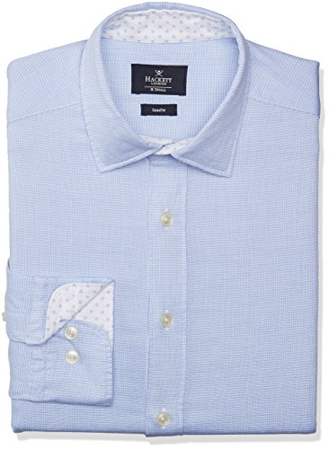 hackett-square-text-multi-chemise-homme-551blue-m
