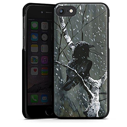 Apple iPhone X Silikon Hülle Case Schutzhülle Rabe Wald Vogel Hard Case schwarz