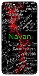 Nayan (Eye) Name & Sign Printed All over customize & Personalized!! Protective back cover for your Smart Phone : Motorola Moto - E ( 1st Gen )