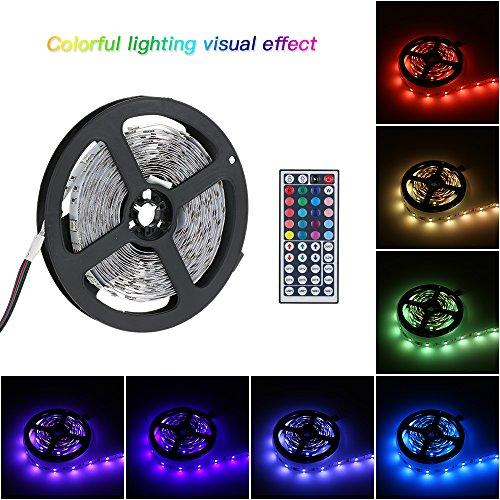 Tomshine SMD5050 Strisce LED Luce Flessibile Con Telecomando 44 Keys Incluso DC 12V 5M 150 LEDs non impermeabile