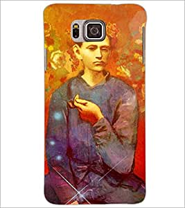 PrintDhaba Painted image D-3897 Back Case Cover for SAMSUNG GALAXY ALPHA (Multi-Coloured)