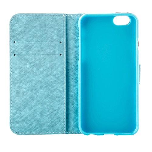 """MOONCASE Étui pour iPhone 6 / 6S (4.7"""") Cuir Coque en Portefeuille Protection Housse de Étui à rabat Case RX04 RX19 #0308"""