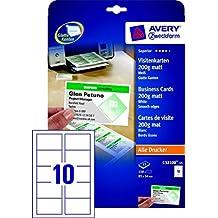 Avery Visitenkarten Suchergebnis Auf Amazon De Für