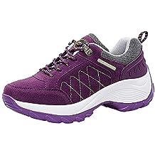 Logobeing Zapatos de Mujer Adelgazar Aumentados Plataforma de Deportes Informal de Cuero Casual Zapatillas de Deporte