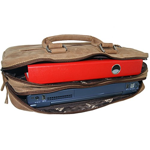 Affordable BARON of MALTZAHN Laptop bag Briefcase PLUTARCH of brown leather + leather care Special