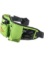 upetch (TM) deportes al aire libre mulitfuction correr cintura bolsa cinturón deporte danza gimnasio botella soporte funda para teléfono Paquete de clave monedero yc210-sz, verde