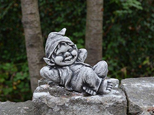 Sonderangebot: Stück 5 lustige kleine Gnome Trolle Wichtel aus Steinguss frostfest - 4