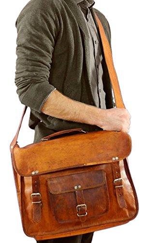 """Gusti Pelle nature """"Tom Borsa a tracolla borsa per Laptop 17pollici pelle Borsa da città Vintage in pelle College Borsa insegnanti bürotasche Borsa da Lavoro Ventiquattrore Borsa Grande Marrone U27, marrone"""