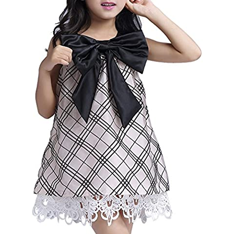 iBaste Vestido de encaje niñas de la tela escocesa Falda de Vestido poliéster de la Moda para Princesas