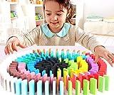 Seven Moon® Standard Wooden Domino Run Board Building Blocks Educational Toys for Children