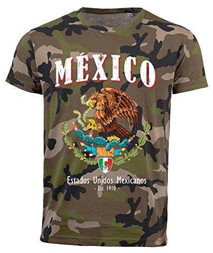 aprom Mexiko Camouflage T-Shirt D04 (2XL) - Mexico El De Tri
