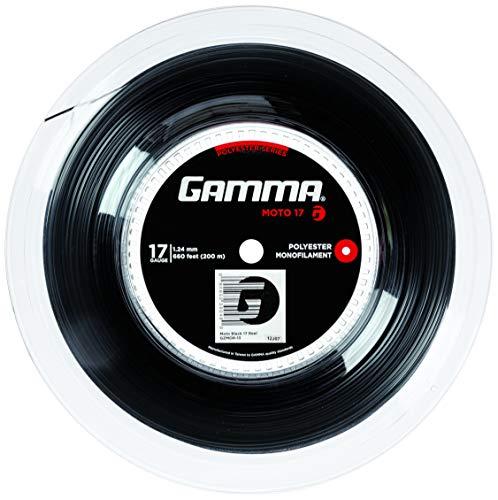 Gamma Tennissaite Moto Schwarz 17 (1.24 mm) 200 m Rolle, GZMOR