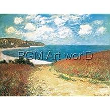 """Póster de la lámina: Claude Monet """" de gato Road to pour Ville, 4780.28 cm 80 x 60, sin marco, 80 x 60"""