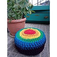 Zafú de meditación pequeño en crochet modelo ARCOIRIS