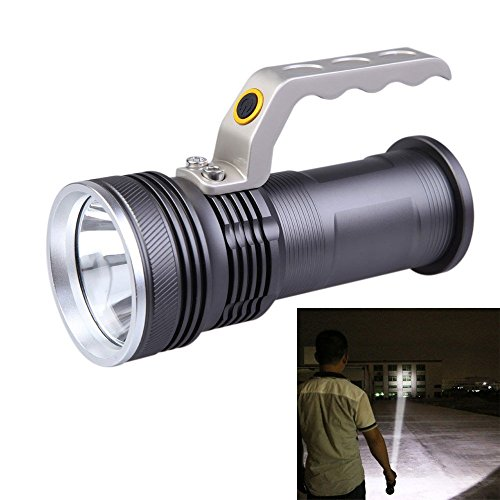 FUN n SHOP Long Range Rechargeable Aluminum LED Heavy Duty Waterproof Torch