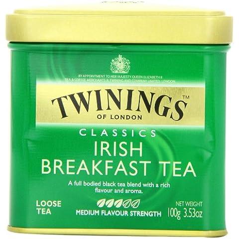 Twinings Colazione Irlandese Tè Sfuso Caddy (Blend Internazionale) - 100G - Twinings Colazione Tè