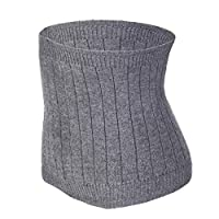 YJZQ Thermal Lumbar Support Lower Back Belt Brace Cashmere Knit Stomach Kidney Warmer Abdominal Binder Waist Trimmer Band Postpartum Belly Wrap - Warming Kidney- C Section Surgical Recovery