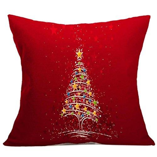 Fami Natale cuscino federe divano tiro copre decorazioni per la casa E